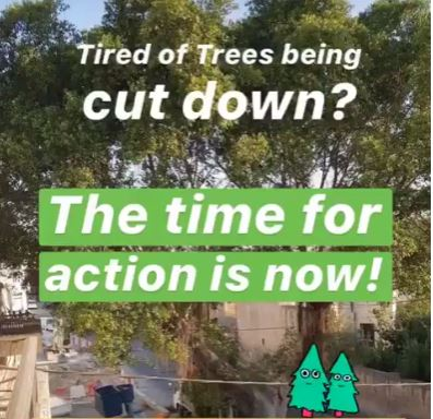 Direct action to stop tree cutting