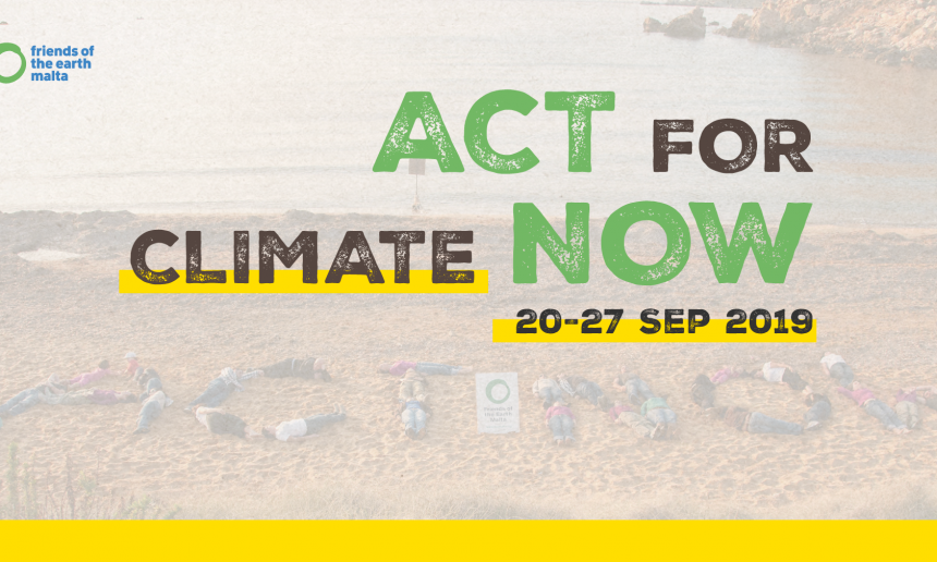 FoE Malta urges public to join Global Climate Actions
