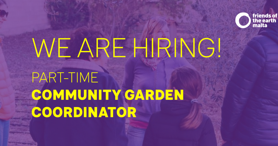 Community Garden Coordinator (Part-time) Ref:1901