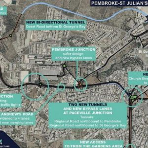 Tunnels and Roads in Pembroke, Swieqi and St. Julian's – All Roads Lead To db