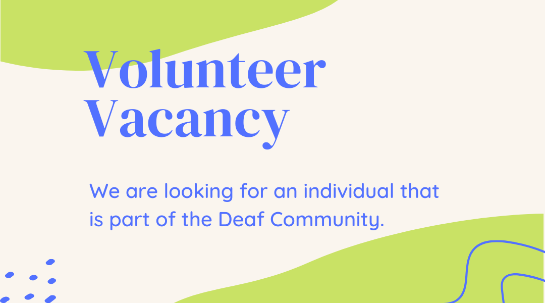 Vacancy: Deaf Volunteer for Erasmus+ project