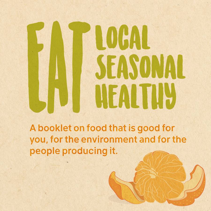 Cover of booklet about eating local seasonal and healthy - Friends of the Earth Malta