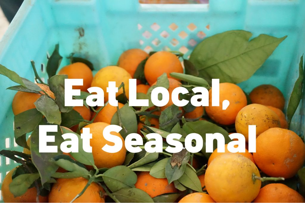 Transporting my veggies from far far away? No thanks! See how it's important (and delicious) to eat local and seasonal.