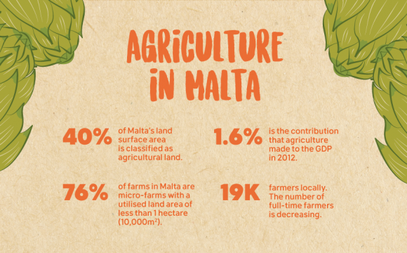 Infographic about agriculture in Malta - Friends of the Earth